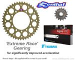EXTREME RACE GEARING: Renthal Sprockets and GOLD Tsubaki Sigma X-Ring Chain - Aprilia RSV4/RSV4 Factory  (2009-2010)